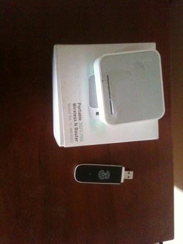 Tp Link Portable Wireless Router Tl-Mr3020 And Huawei E353 Hspa+ 3G
